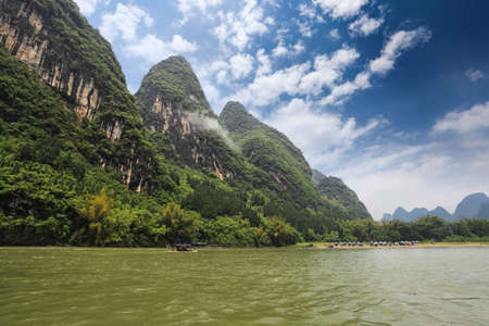 beautiful lijiang river scenery in guilin,China photo