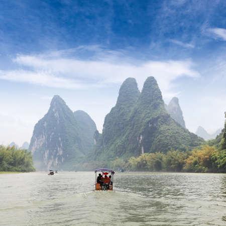 beautiful scenery of lijiang river,China photo