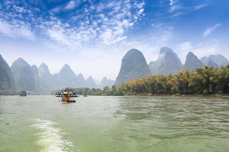 karst mountain landscape in lijiang river,guilin, China