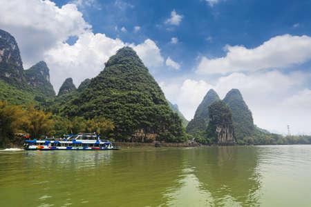 pleasure boat in lijiang river,guilin,China photo