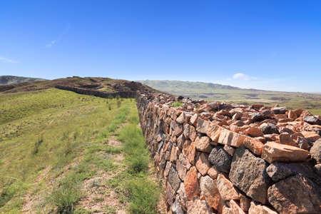 qin: Qin dynasty great wall ruins in inner mongolia,China