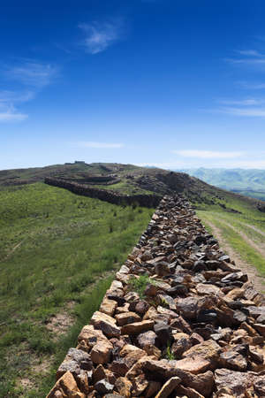 Qin dynasty great wall ruins in inner mongolia,China Stock Photo - 14673452