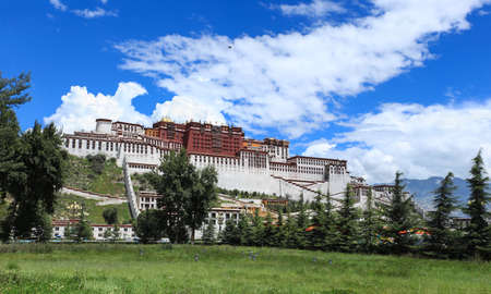 potala: panorama of potala palace in lhasa,tibet,China
