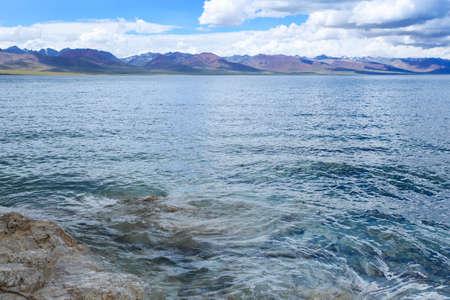 namtso lake is the famous saint lake of tibetan buddhism  Stock Photo - 14973884