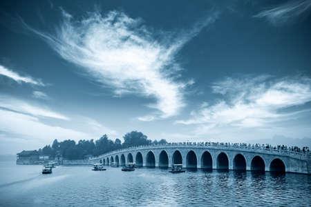 seventeen: seventeen hole bridge in summer palace, beijing,China