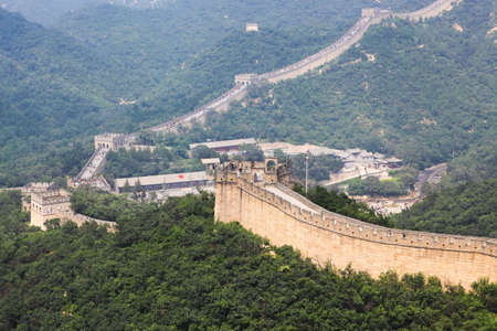 badaling: badaling great wall,crossroad town in beijing,China