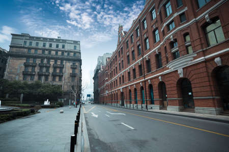 old shanghai with outstanding historic buildings photo