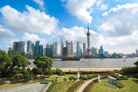 shanghai landscape in the north bund greenbelt Stock Photo - 15892477