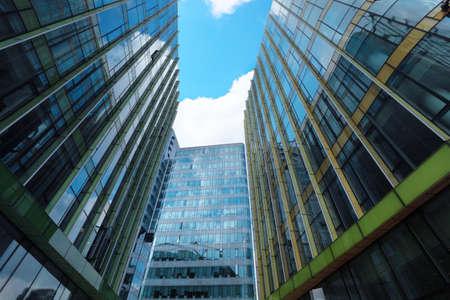 corporate buildings: modern glass buildings in shanghai Stock Photo