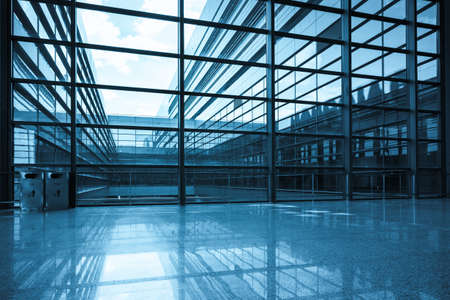 bright window and glass curtain wall a modern building