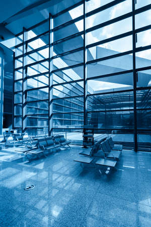 window and glass curtain wall with chair in the modern building Stock Photo - 16042809