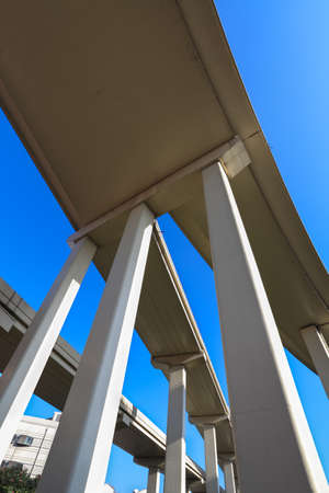 the elevated road against a blue sky Stock Photo - 16399194