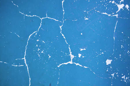 mangy: aging of the paint crack on the blue wall
