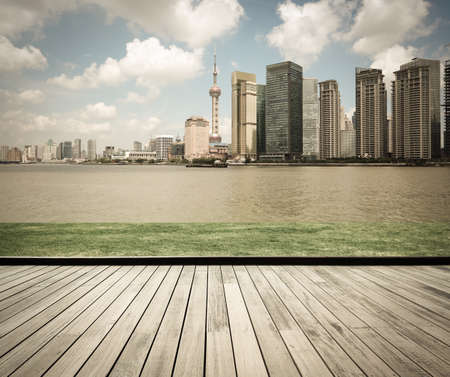 cityscape of modern city in shanghai,China Stock Photo - 17619597