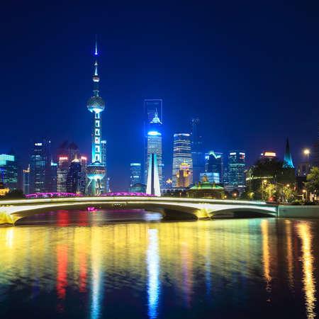 charming night in shanghai,scene from suzhou river
