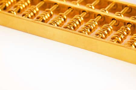 abaco: ábaco de oro blanco, chino tradicional concepto de negocio de fondo