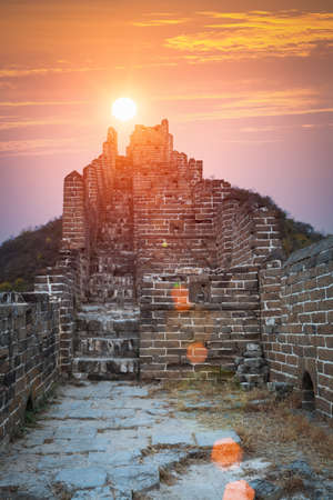great wall: the great wall in sunrise,China