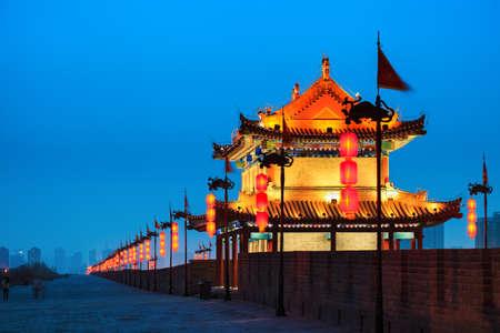 ancient city wall at night, Xi