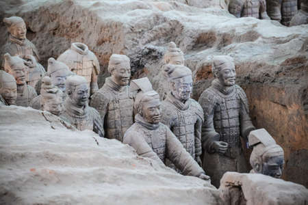 vivid terracotta warriors in xian,China