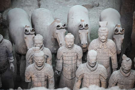 terra cotta: terracotta warriors and horses is the eighth wonder of the world Editorial