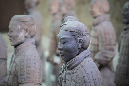 closeup of the terracotta warrior in xian,China