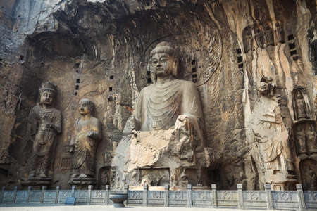 buddha statue niche in longmen grottoes,luoyang,China  Stock Photo - 18805100