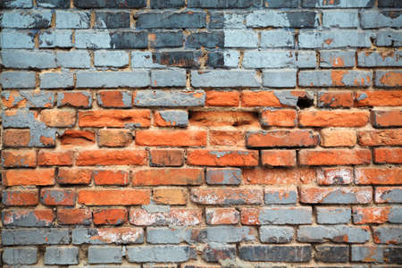 old red brick wall textured background photo