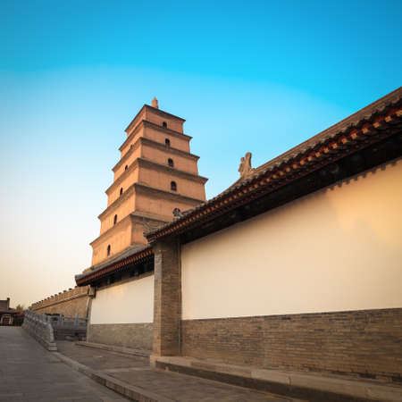 giant wild goose pagoda in Xian, China     photo
