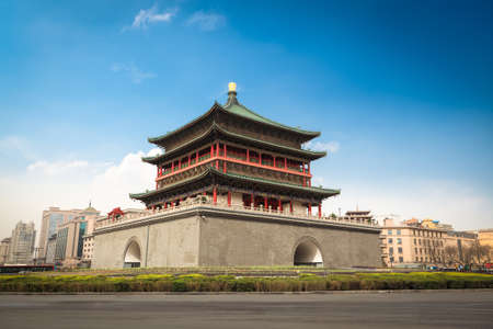 bell tower, a famous landmark in the center of the ancient city of xian,China photo