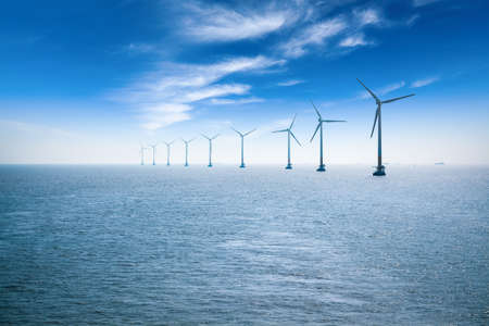 wind farm: offshore wind farm in shanghai in the east China sea