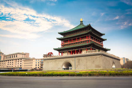 ancient city xian bell tower in daytime