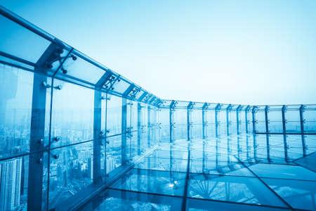 top van de moderne stad, lucht observatiedek Stockfoto