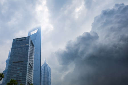 billow: the sky clouded over and threatened rain,a storm is brewing in shanghai .  Editorial