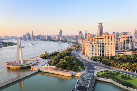 the beauty of the bund, shanghai in the morning,China photo