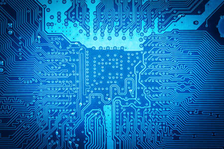 blue computer circuit board as abstract technology background stock photo picture and royalty free image image 25831614
