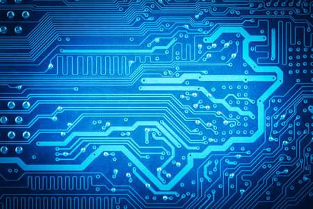 circuito electrico: resumen de antecedentes con la tarjeta de circuitos del ordenador azul