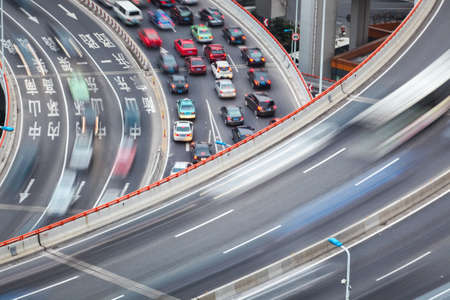 interchange: interchange bridge closeup ,between fast and slow