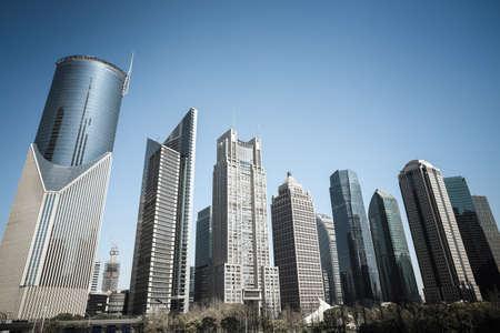 shanghai skyline: shanghai business background of modern financial center buildings