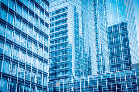 blue glass skyscraper ,abstract modern office building