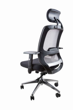 comfortable office swivel chair isolated on white with clipping path  photo