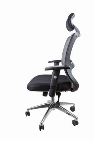ergonomic office swivel chair isolated on white with clipping path  photo