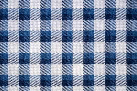 closeup of the blue gingham cloth texture background photo