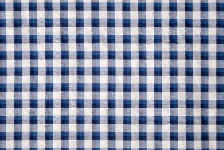 gingham: blue gingham cloth closeup