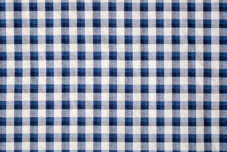 place mat: blue gingham cloth closeup