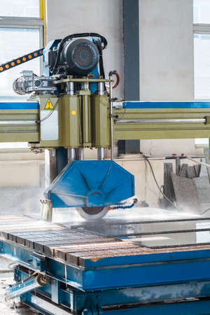 cutting machine is: stone processing closeup , infrared ray electric column  bridge style cutting machine