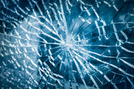 tempered: broken tempered glass closeup , background of glass was smashed