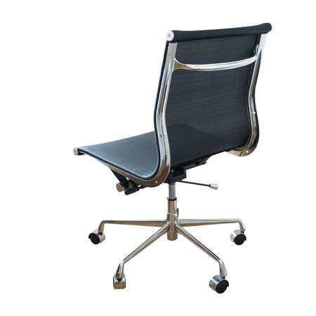 sillon: silla giratoria aislado en blanco Foto de archivo