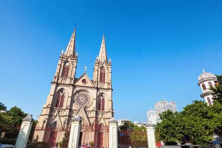 sacre coeur: shishi cathédrale Sacré-C?ur, construit en 1863, Guangzhou, en Chine.