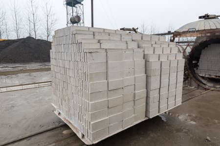 autoclaved aerated concrete block in a building materials factory Фото со стока - 36368871