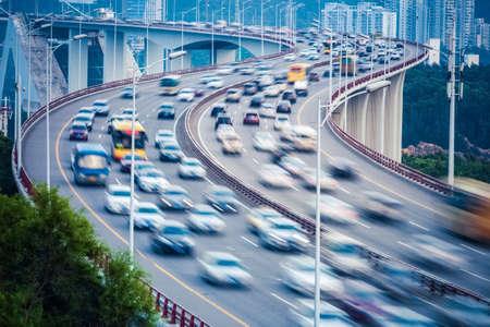 混雑車両運動曲線のランプ橋のぼかし